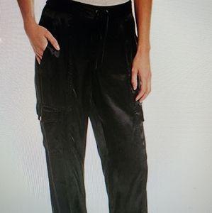 1.STATE Satin Cargo Jogger Black pants